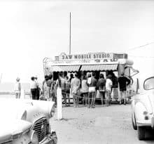 Maggie Diaz - 3AW Mobile Studio (1960s)