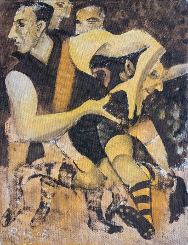 Victor Rubin - Jack Dyer, Richmond v Essendon Preliminary Final 1944 Study 4 (2005)