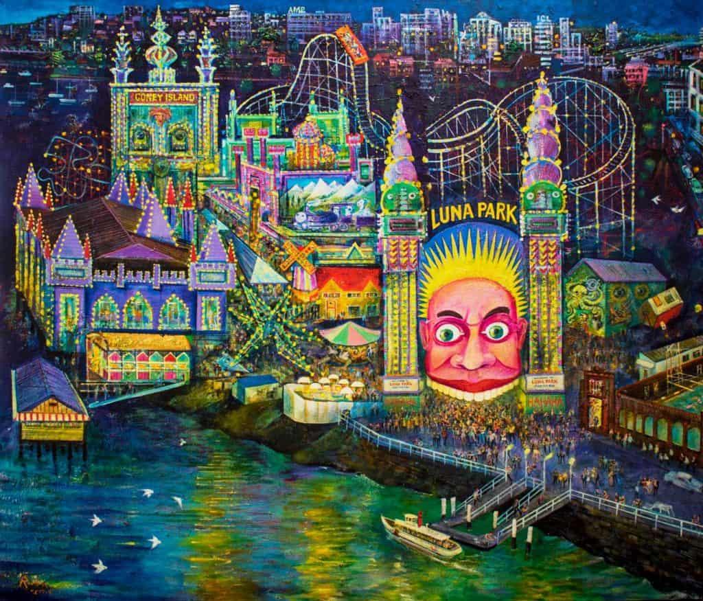 Victor Rubin - Luna Park - Sydney c. 1960 (2017 - 2018)