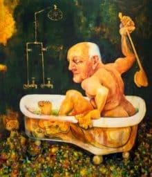Victor Rubin - John Olsen - Part II in his Bath (2010)