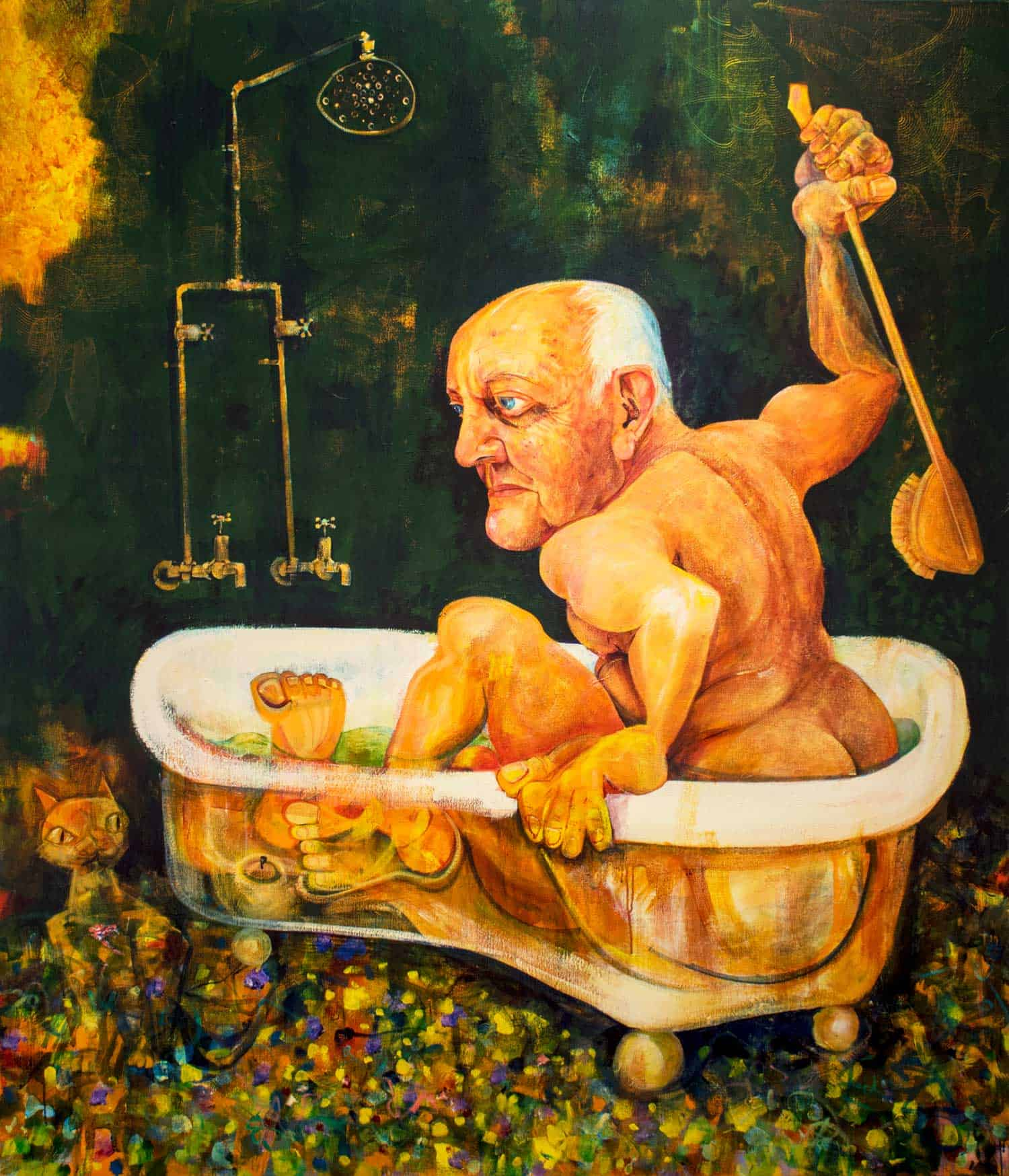 Victor Rubin - John Olsen - Part II in his Bath (2010)