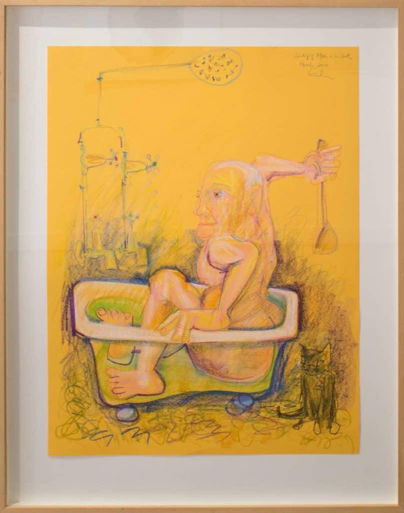 Victor Rubin - John Olsen in the Bath 1 (2010)