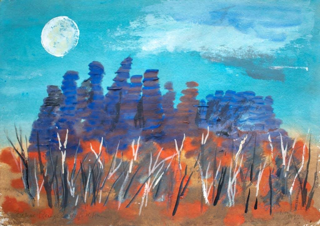Victor Rubin - Oskar Ranges with Full Moon (1992)