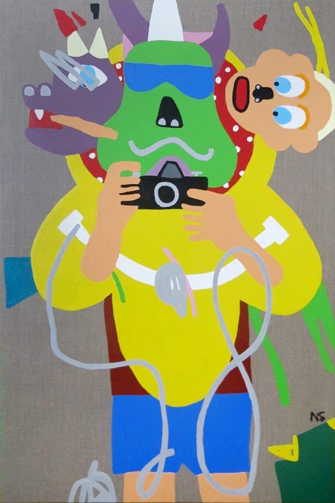 Nigel SenseThe Happy Tourist, 2019 Acrylic on canvas120 cm by 80 cm$4,000