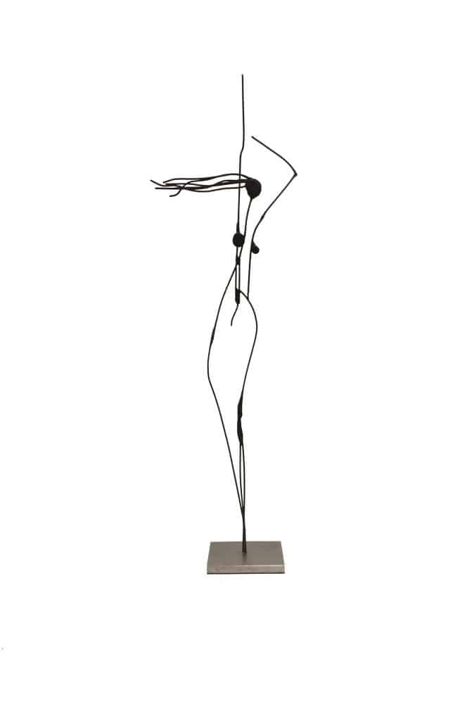 Bart SancioloLinear Concept: Spark, 2020Painted and unpainted stainless steel 75 cm by 23 cm by 10 cm $5,800