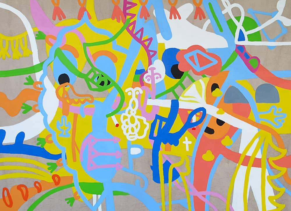 Nigel SenseLittle India, 2020 Acrylic on canvas80 cm by 110 cm$3800