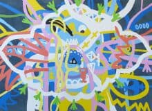 Nigel SenseDivine Madman, 2020 Acrylic on canvas80 cm by 110 cm$3800