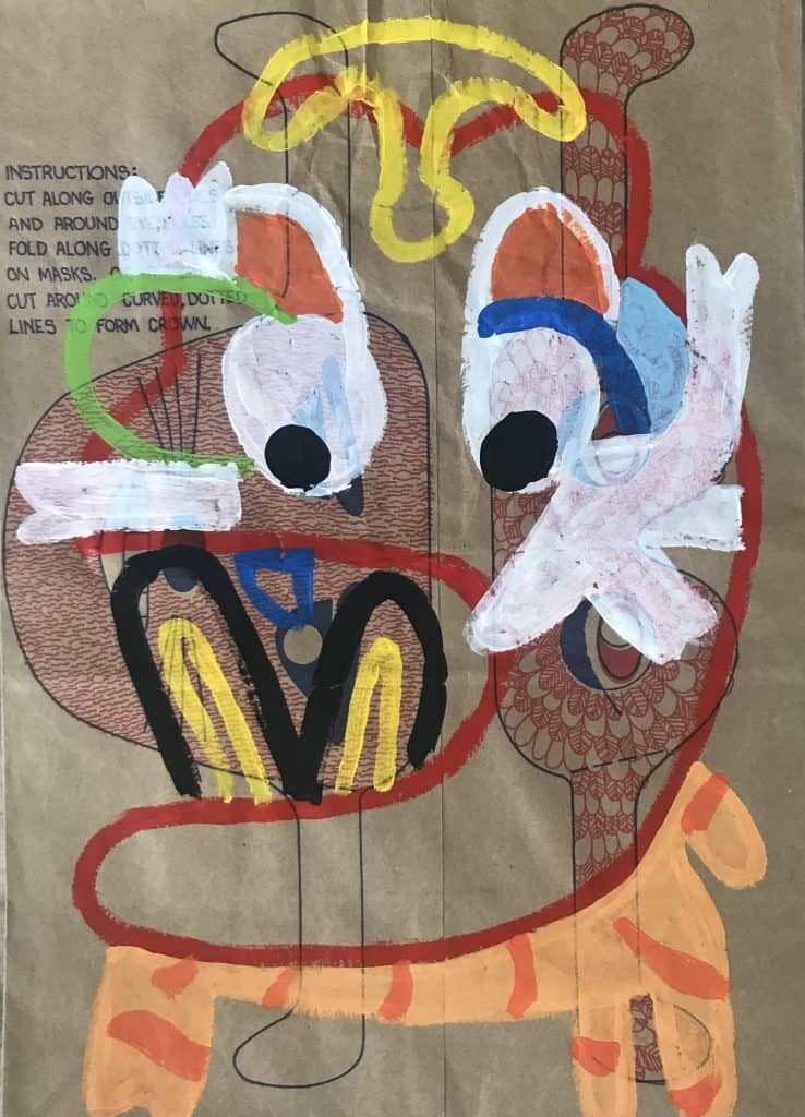 Nigel SenseKuala Lumpur , 2020 Acrylic on malt bag43 cm x 31 cm$500