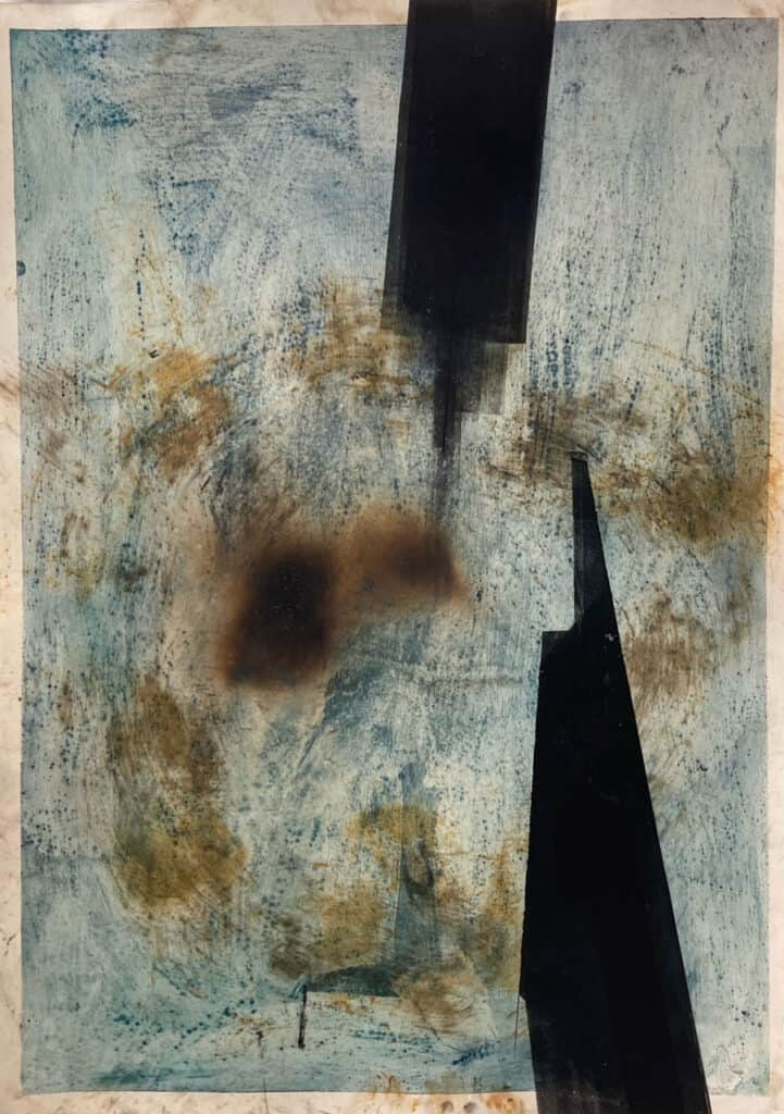 Peter ThomasStrategic Linkage, 2020Monotype, earth pigments, smoke and mixed media on cotton rag paper104 cm by 76 cm$1,000 🔴