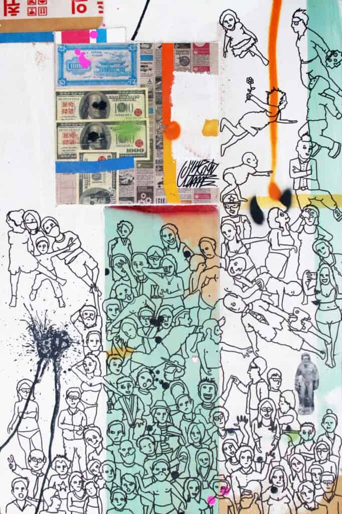 Eddie BothaComeunity, 2021 Indian ink on mixed media board91.5 cm by 61 cm$1500