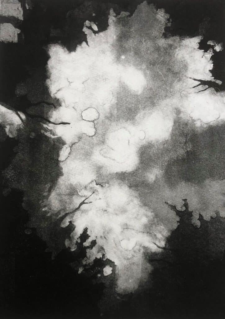 Charlotte Watson<br><em>Nightwalk 6</em>, 2020<br>Monotype on Somerset paper<br>22 cm by 29.5 cm<br>$1100