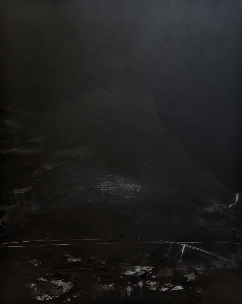 Emilie HeurteventThe Abyss #10, 2020Acrylic and ink on canvas152 cm by 122 cm$4,000