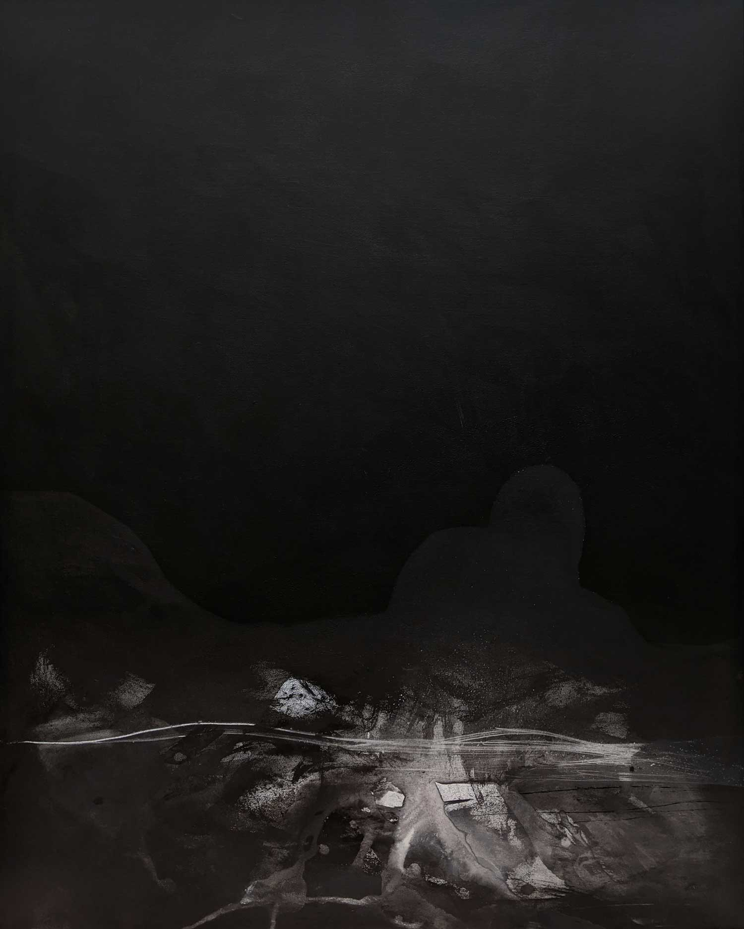 Emilie HeurteventThe Abyss #11, 2020Acrylic and ink on canvas152 cm by 122 cm$4,000