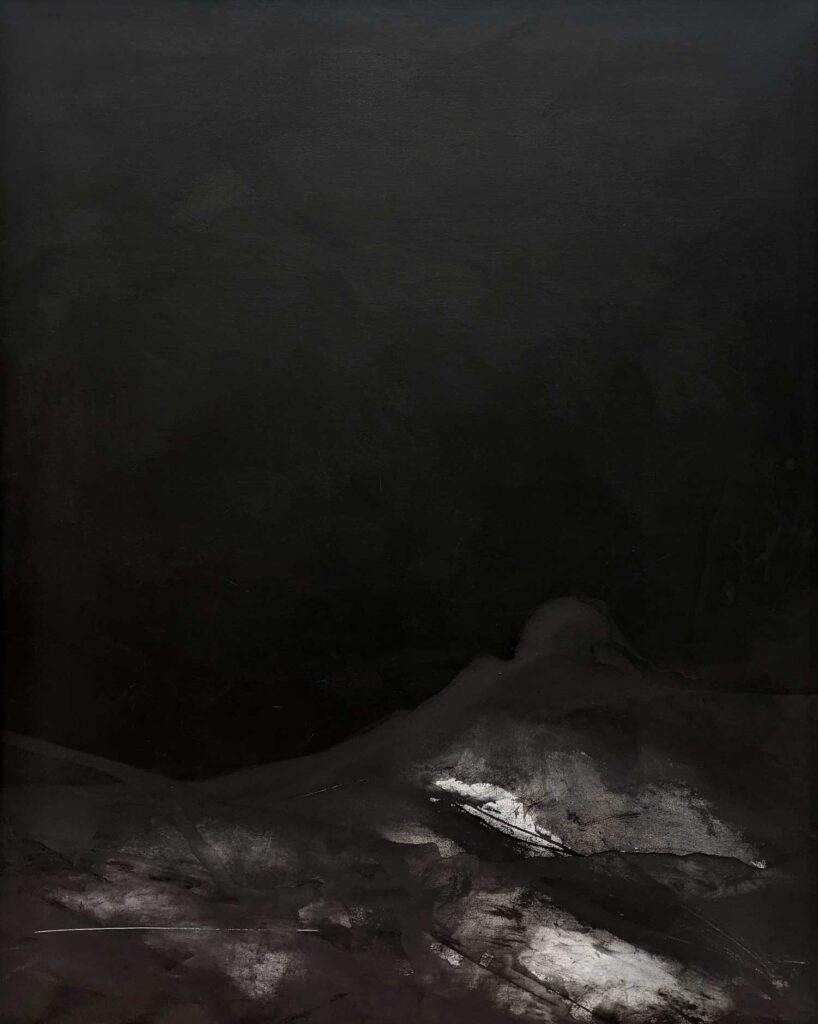 Emilie Heurtevent<br><em>The Abyss #12</em>, 2020<br>Acrylic and ink on canvas<br>152 cm by 122 cm<Br>$4,000