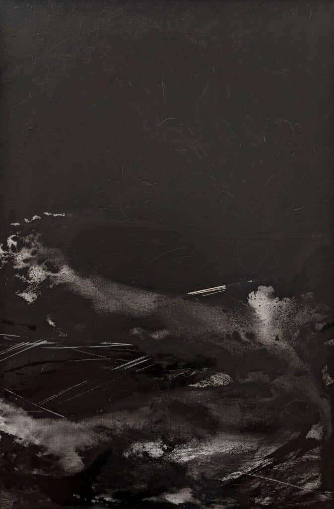 Emilie Heurtevent<br><em>The Abyss #13</em>, 2021<br>Acrylic and ink on canvas<br>61 cm by 92 cm<Br>$1,500