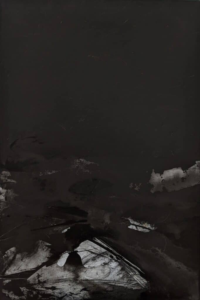 Emilie Heurtevent<br><em>The Abyss #14</em>, 2021<br>Acrylic and ink on canvas<br>61 cm by 92 cm<Br>$1,500
