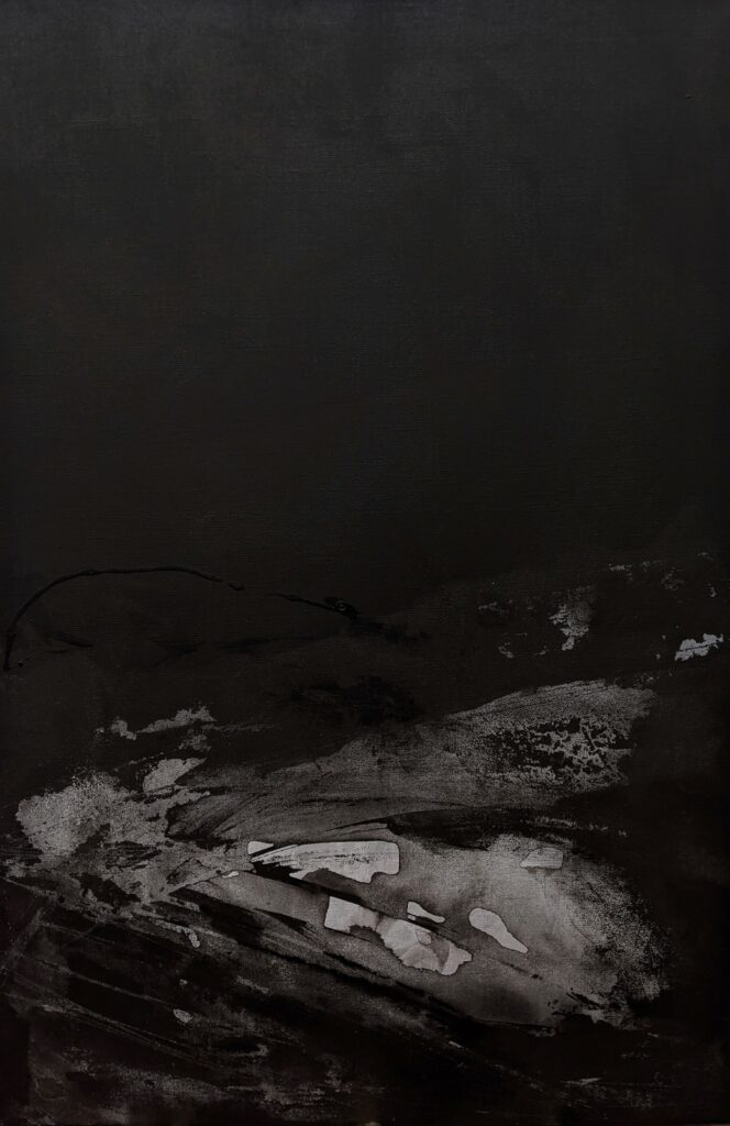 Emilie Heurtevent<br><em>The Abyss #15</em>, 2021<br>Acrylic and ink on canvas<br>61 cm by 92 cm<Br>$1,500