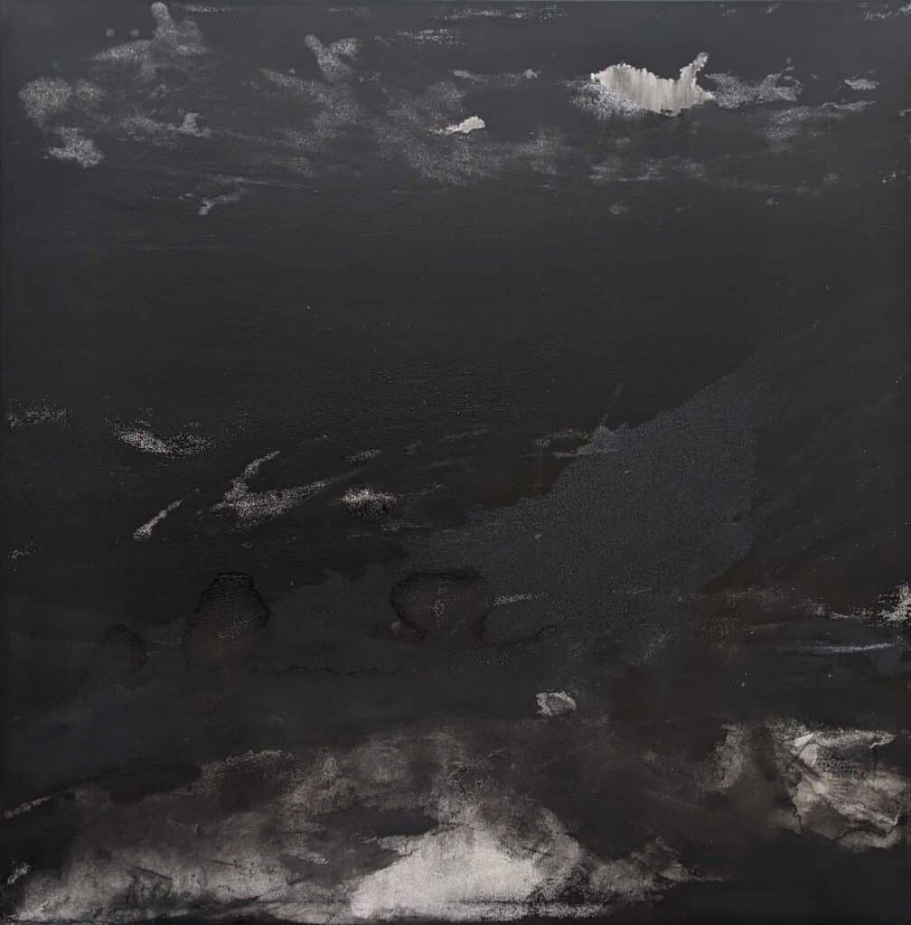 Emilie Heurtevent<br><em>The Abyss #4</em>, 2020<br>Acrylic and ink on canvas<br>122 cm by 122 cm<Br>$2,500