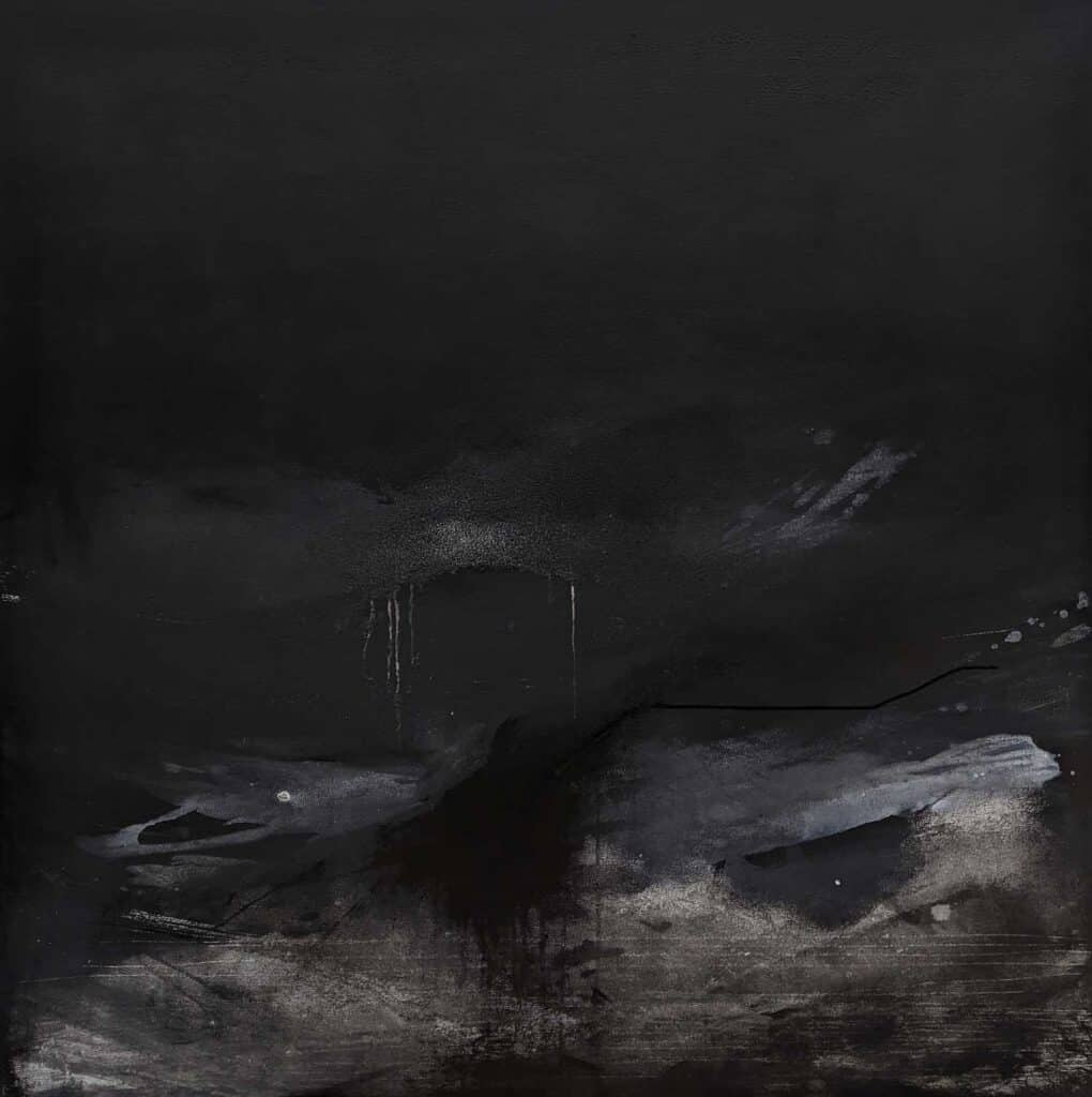 Emilie Heurtevent<br><em>The Abyss #5</em>, 2020<br>Acrylic and ink on canvas<br>122 cm by 122 cm<Br>$2,500