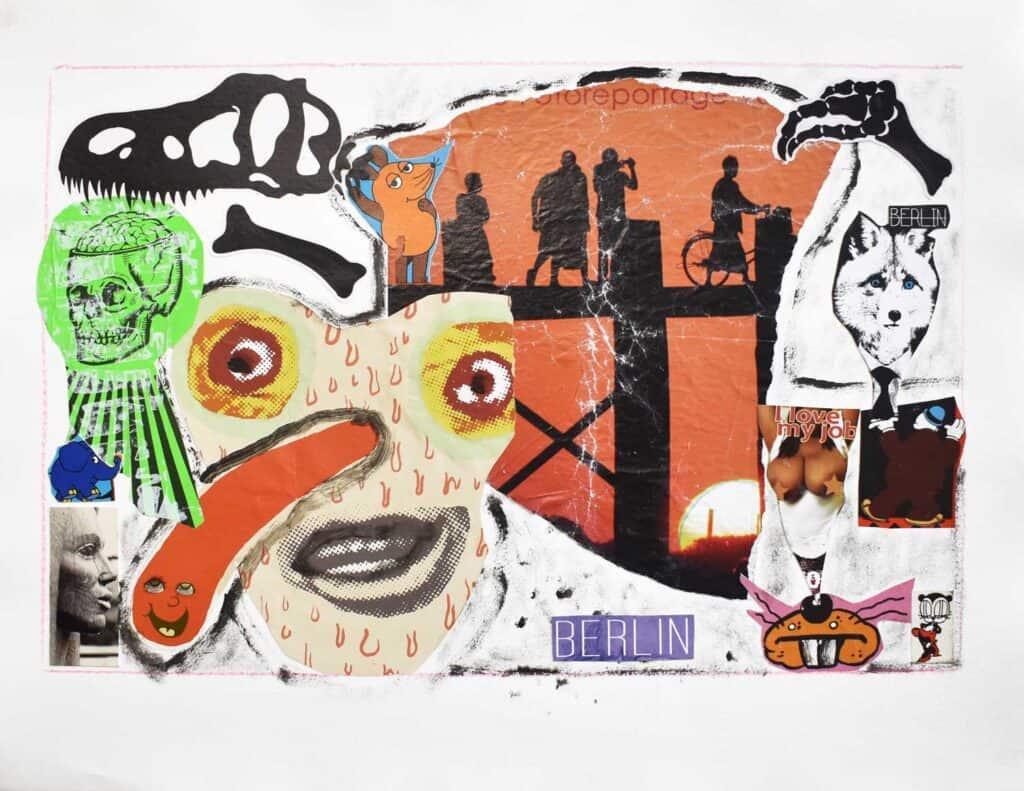 Murray Walker<br><em>Untitled</em>, 2015<br>Collage on archival paper<br>51 cm by 66 cm<br>$1,850
