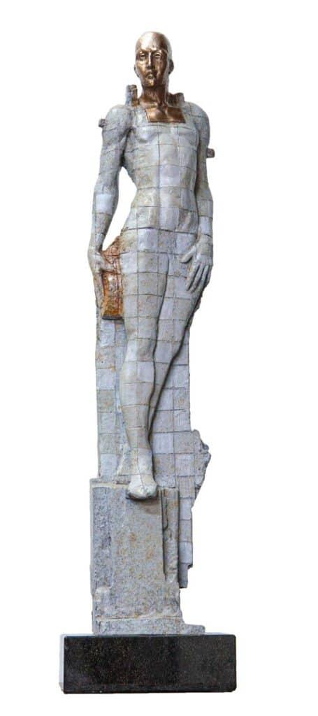 Stephen Glassborow <br><em>Coming Out</em>, 2021 <br>Bronze sculpture<br>60 cm high<br>$4,400