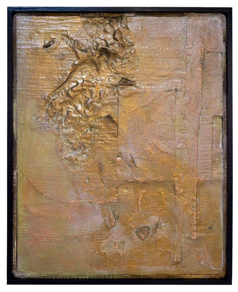 Peter ThomasDamage Gold, 2017Mixed media on felt in artists frame120 cm by 96 cm$4,000