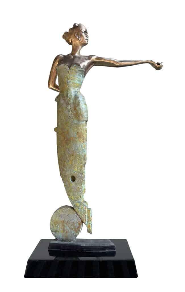 Stephen Glassborow <br><em>Jupiter (front)</em>, 2021 <br>Bronze sculpture<br>64  cm high<br>$8,500