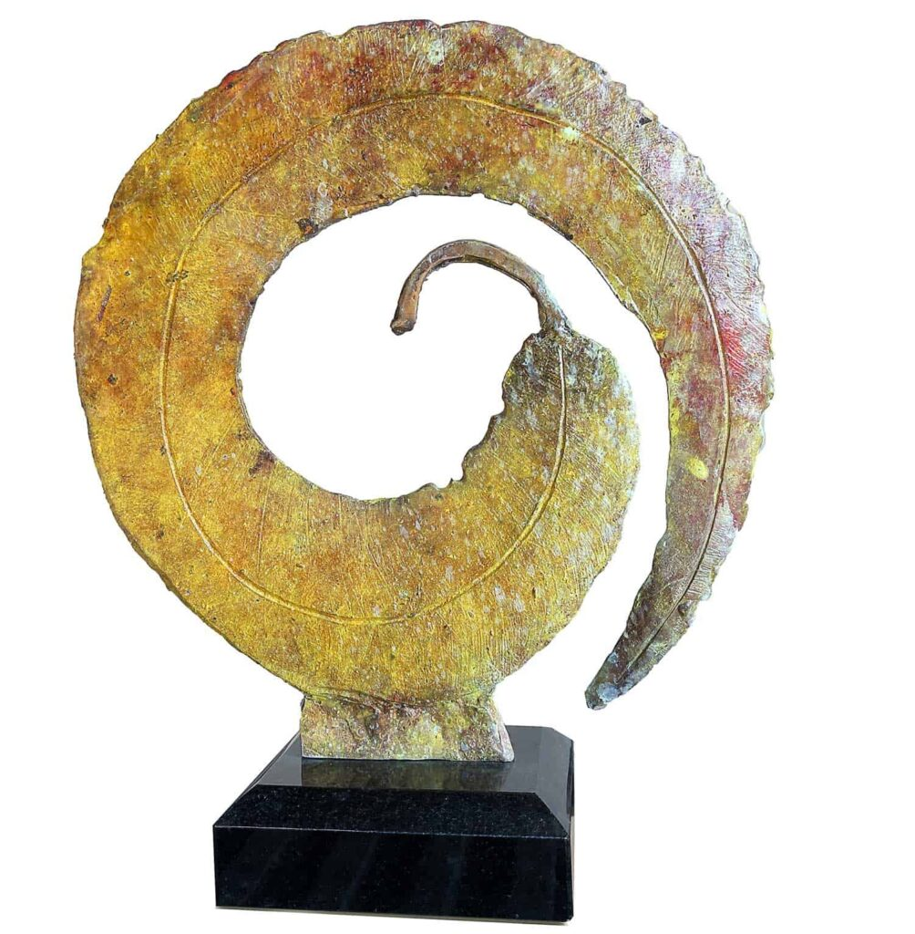 Stephen GlassborowInfinity Leaf, 2021Bronze sculpture30 cm high$3,500