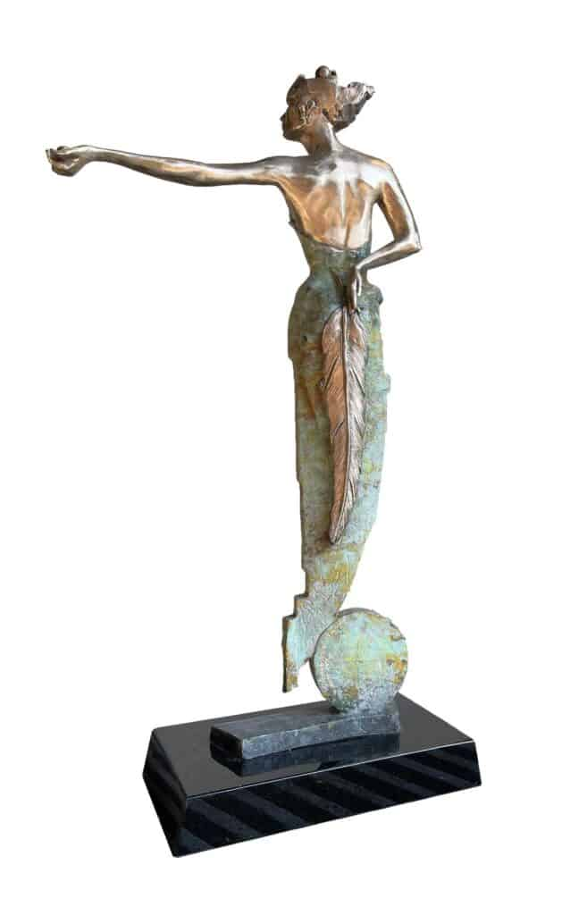 Stephen Glassborow Jupiter (back), 2021 Bronze sculpture64 cm high$8,500