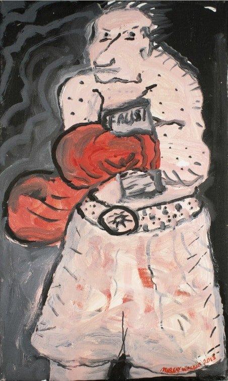 Murray WalkerBoxer Read Faust, 2013Oil on Belgium linen32.5 cm by 55.5 cm$3,000