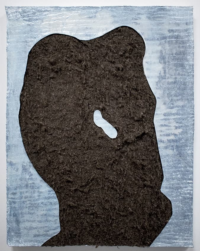 Peter ThomasThe Yeti, 2017Enamel, varnish and acrylic on wool felt on panel96 cm by 76 cm$2,800