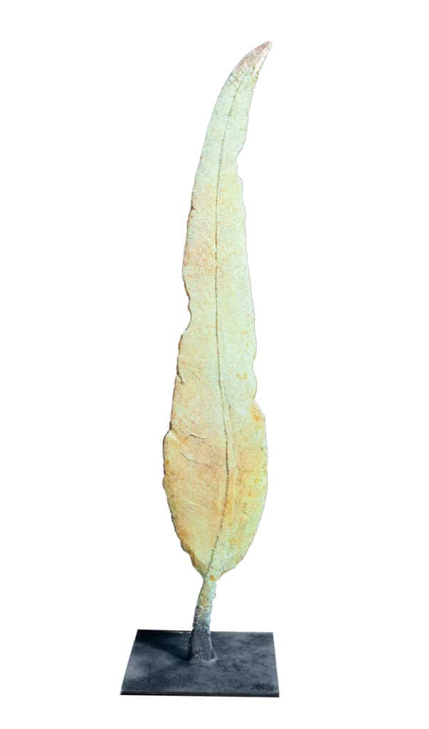 Stephen Glassborow Still Leaf #1, 2021 Bronze170 cm High$15,000