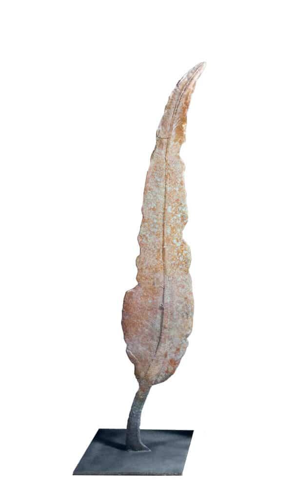 Stephen Glassborow <br><em>Still Leaf #2</em>, 2021 <br>Bronze sculpture<br>150 cm High<br>$13,000