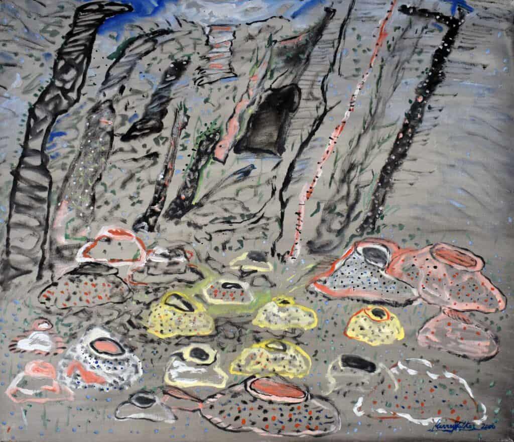 Murray WalkerNear Silverband Falls (Grampians), 2006Oil on Belgian linen92cm by 79 cm$5,000