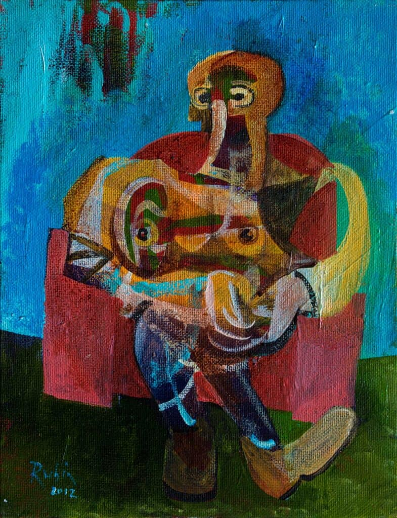 Victor RubinSeated Figure, 2012Acrylic on canvas25 cm by 20 cm$1,500
