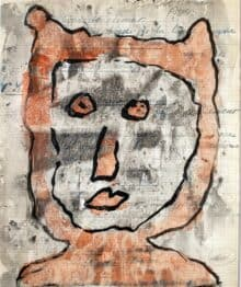 Murray WalkerCat Woman in Paris, 2012Oil on paper, framed42 cm by 35 cm$1,500