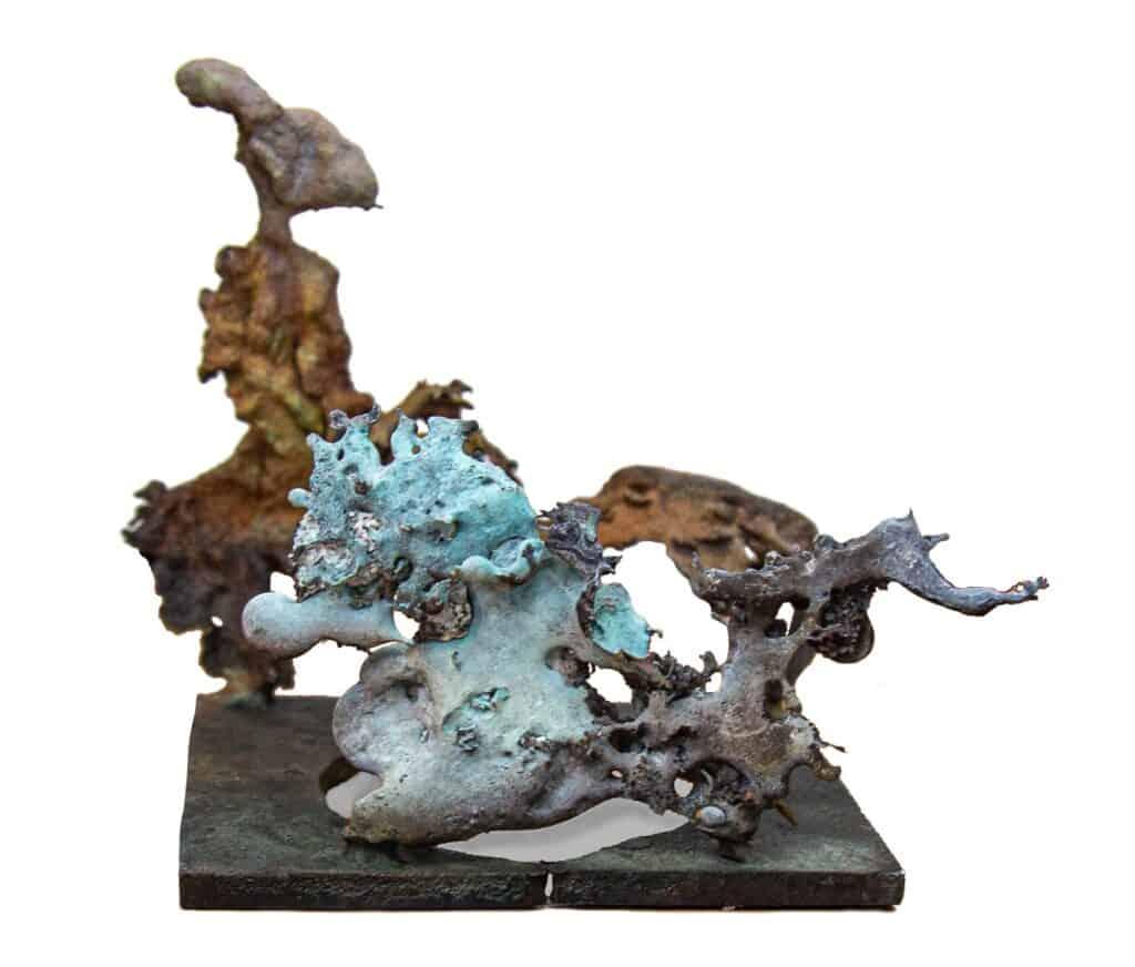 Murray Walker<br><em>Lady Chariot</em>, 2020<br>Bronze assemblage<br>13 cm by 14cm<br>$1,250