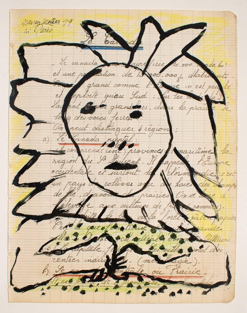 Murray Walker<br><em>The Sunhead</em>, 1999<br>Oil on Belgian linen, framed<br>35 cm by 43 cm<br>$1,500