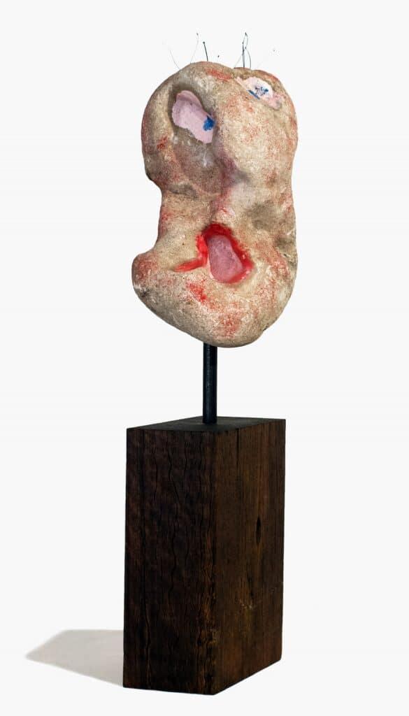 Murray Walker<br><em>The Scream</em>, 2019<br>Point Londsdale back beach limestone<br>48 cm by 11 cm by 7 cm<br>$3,150