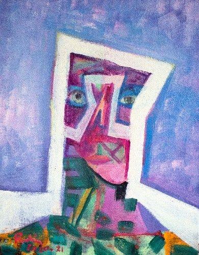 Victor RubinArchitectural Entity, 2021Acrylic on canvas25 cm by 20 cm$1,500