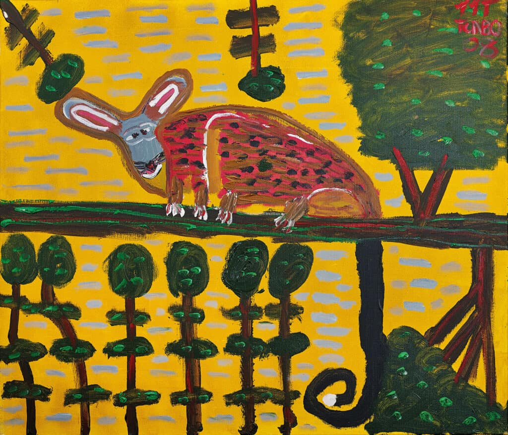 Turbo Brown Lonely Possum Looking for Friends 2008 acrylic on linen 107 x 98.5 $6000
