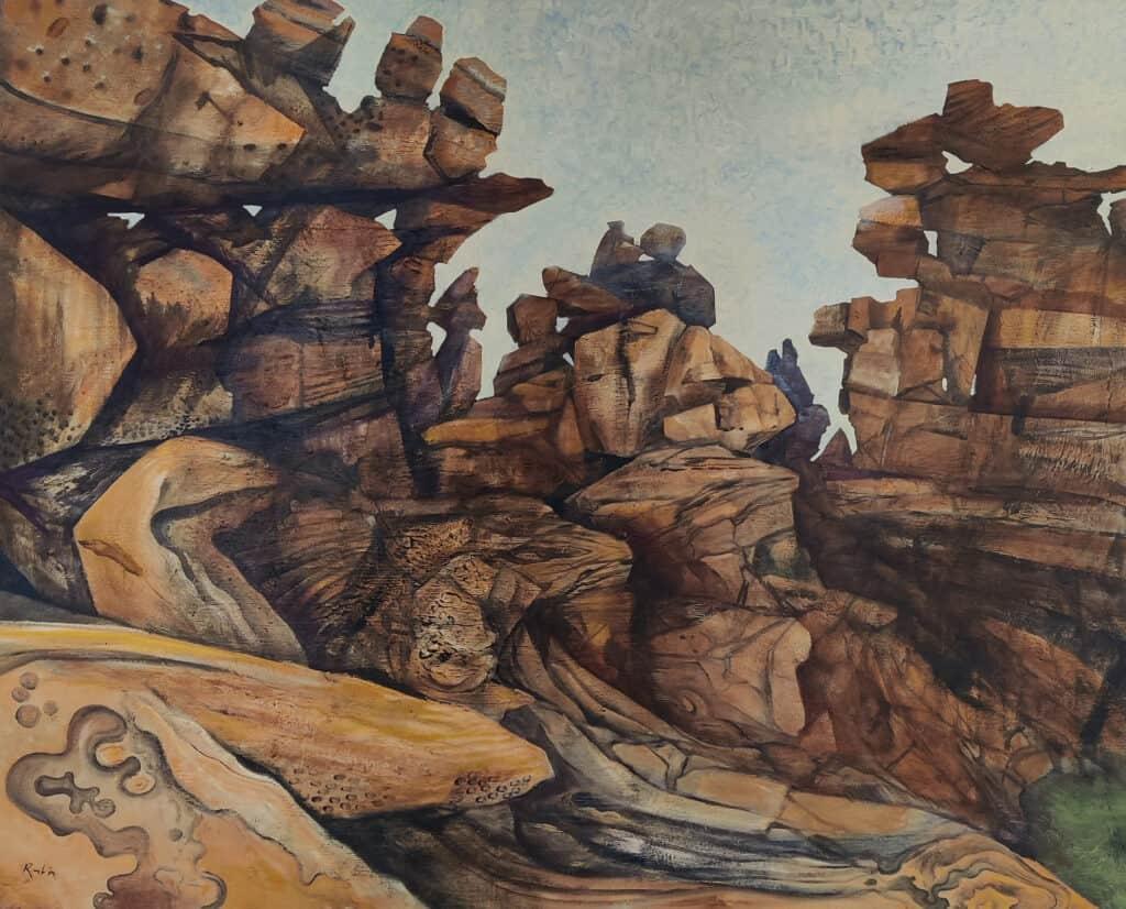 Victor Rubin, Grevillea Gorge, Northwest Kimberley, 1998-99, oil on linen, 123 x 153cm